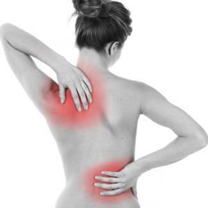 Woman having backache